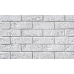 Cegła Elastyczna Retro Biała 6,5x21 cm