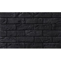 Cegła Elastyczna Retro Czarna 6,5x20 cm